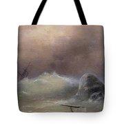 Stormy Sea 1887 Ivan Konstantinovich Aivazovsky Tote Bag