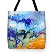 Stormy Seas Abstract #3 Tote Bag