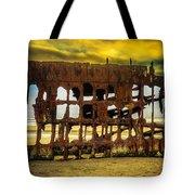 Stormy Shipwreck Tote Bag