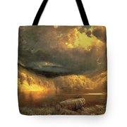 Stormy Skies Above Echo Lake White Mountains  Tote Bag