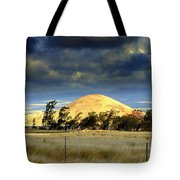 Stormy Skies Over Sunset Cinder Cone Tote Bag