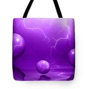 Stormy Skies - Purple Tote Bag