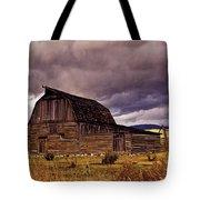 Stormy Sunset At Moulton Barn Tote Bag
