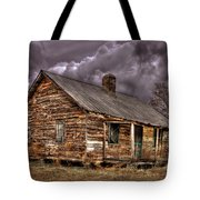 Stormy Times Tenant House Greene County Georgia Art Tote Bag