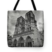 Stormy Views Of Notre-dame Tote Bag
