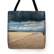Stormy Weather Over The Beach In Scotland Tote Bag