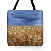 Stormy Wheat Field Tote Bag