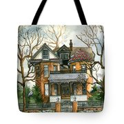 Stormy Winter Skies Tote Bag
