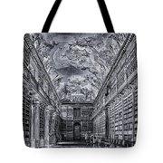 Strahov Monastery Philosophical Hall Bw Tote Bag