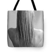 Straight Hair Tote Bag
