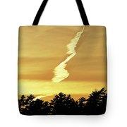 Strange Clouds At Sunset I Tote Bag
