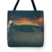 Strange Encounter Tote Bag