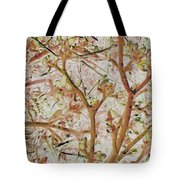 Strange Forest With Small Birds Tote Bag