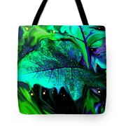 Strange Green World Tote Bag