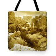 Strange Rock Formations At El Torcal Near Antequera Spain Tote Bag
