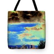 Strange Spokane Storm Tote Bag