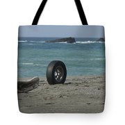 Strange Tire Ad Tote Bag