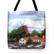 Windmill In Strangnas Sweden Tote Bag