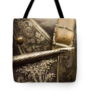 Strapped In Steel Tote Bag