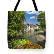Strasbourg, Half-tmbered Houses, Petite France, Alsace, France Tote Bag