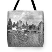 Strasbourg. View From The Barrage Vauban. Black And White 2 Tote Bag