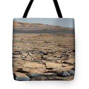 Stratified Rock On Mars Tote Bag