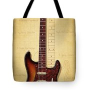 Stratocaster Illustration Tote Bag