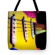 Stratocaster Pop Art Pink Fire Neck Series Tote Bag