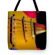 Guitar Pop Art Hot Rasberry Fire Neck Series Tote Bag