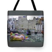 Stravinsky Fountain Near Centre Pompidou In Paris, France Tote Bag