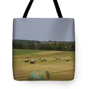 Straw Dries In A Farmers Field Tote Bag