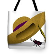 Straw Hat And Horn Beetle Tote Bag