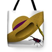 Straw Hat And Stag Beetle Tote Bag