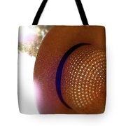 Straw Hat Hanging In Sunny Cottage Tote Bag