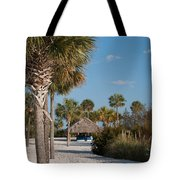 Straw Hut Paradise Tote Bag