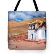 Straw Roof Machuca Church Tote Bag