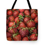 Strawberries -2 Contemporary Oil Painting Tote Bag