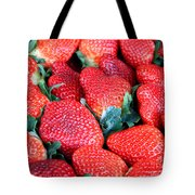 Strawberries 8 X 10 Tote Bag