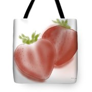 Strawberries Airbrushed Tote Bag