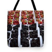 Strawberries And Blackberries Tote Bag