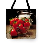 Strawberries And Cream Tote Bag