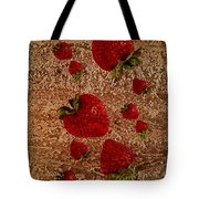 Strawberries And Stone Slab  Tote Bag