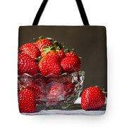 Strawberries In The Sun Tote Bag