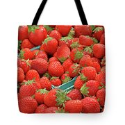 Strawberries Jersey Fresh Tote Bag