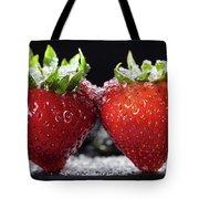 Strawberries Panorama Tote Bag
