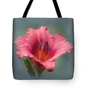 Strawberry And Blue - Daylily Tote Bag