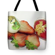 Strawberry And Easter Eggs Tote Bag