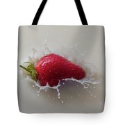 Strawberry And Milk Tote Bag