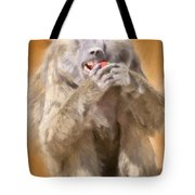 Strawberry Baboon Tote Bag