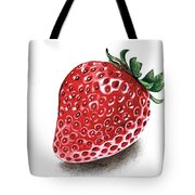 Strawberry Bite Tote Bag by Janet Moss
